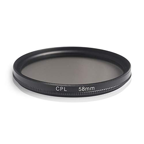 Ares Foto® Filtro de polarización Circular. Circular Polarizing Filter. Fabricado en Aluminio y Vidrio óptico. para Canon Sony Nikon Fujifilm Pentax Tamron Sigma Leica Olympus Panasonic (58mm)