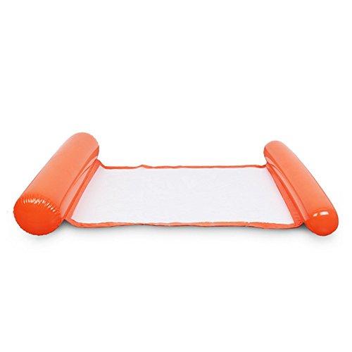 Chomile Faltbar Wasser Hängematte Single People Aufblasbar Rückenlehne Strand Liegestuhl Schwimmbad Bett - Orange