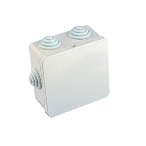 Caja estanca de superficie cuadrada de 80 x 80 x 40 mm Electro Dh ...