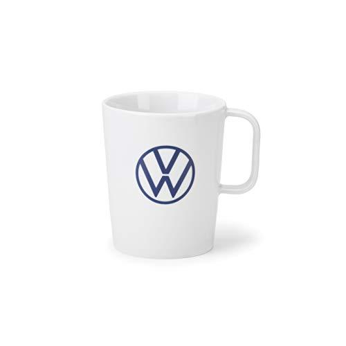 Volkswagen 000069601BQ Tasse Becher Kaffeetasse Porzellan weiß, mit VW Logo