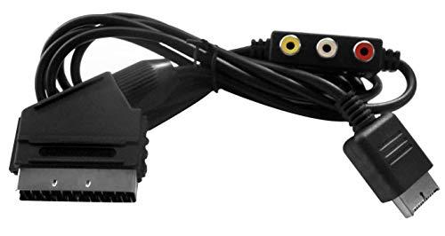 Eaxus®️ Playstation RGB Scart TV Cable con salida de audio - para PSX PS1 PS2 PS3