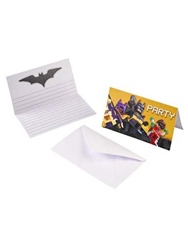 Lego® Batman-Einladungskarten und Umschläge 8 Stück Einheitsgröße