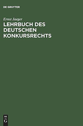 Lehrbuch des deutschen Konkursrechts