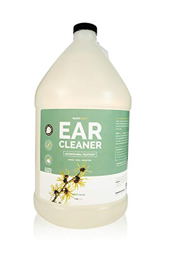 Bark 2 Basics Dog Ear Cleaner, 1 Gallon - All Natural, Witch Hazel, Gentle Aloe Vera and Chamomile Extract Base, Breaks Through Tough Wax and Debris, Soap-Free