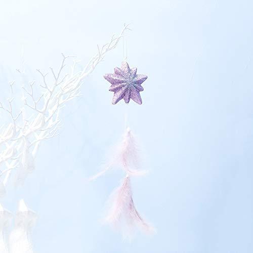 Qiuge 2 PCS Ragazze Polvere Piuma Bolla Pendente Decorazione dellalbero di Natale Creativo (Esagonale Star) QiuGe (Color : Star)
