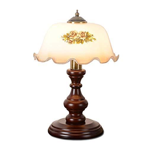 Tischlampe, American Retro Classic Holz Tischlampe Dekoration Amerikanische Pastorale Studie Schlafzimmer Bedside Desktop Light Phantasie Tischlampe E27 XYJGWSTD (Size : Dimming Switch)