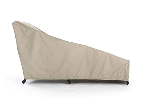 Covermates – Chaise Lounge Cover – 25W x 78D x 30H – Elite – 300D Stock-Dyed Polyester – Elastic Hem for Secure Fit – Buckle Straps – 3 YR Warranty – Weather Resistant - Khaki