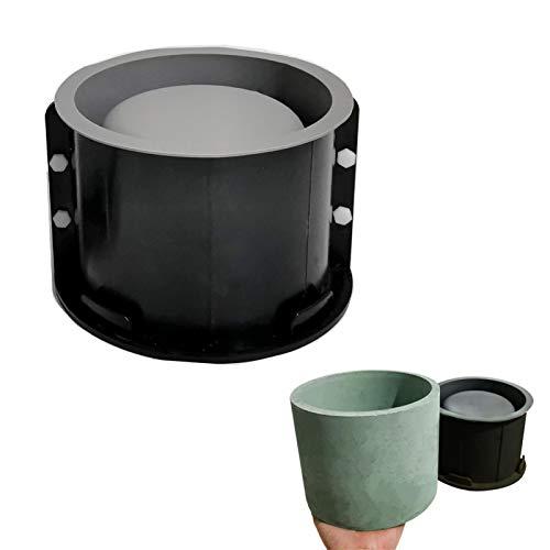 UMXOSM Silicone Molds for Concrete Flower Pot, 5x6inch Round Planter Mold Large, Concrete Moulds DIY Container for Succulent Bonsai Decorating