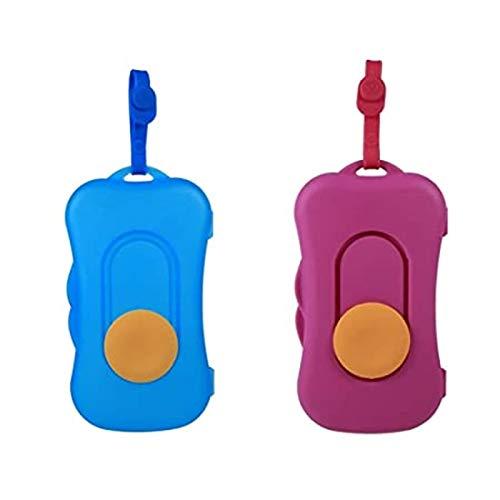 Wimagic 2 Piezas Caja de pañuelos húmedos Soporte para Caja de pañuelos húmedos Portátil para bebés y niños Caja de pañuelos húmedos Caja de pañuelos húmedos Soporte para Papel higiénico