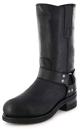 Sendra Boots Herren Biker Boots 12397 Negro Engineerstiefel mit Stahlkappe Schwarz 48 EU