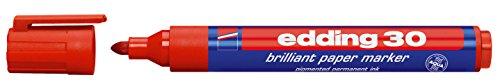Edding 30 Pigment Marker rot Faserschreiber wasserfest 1,5-3mm Strich