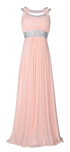 conail Coco Women's V-Neck Elegant Royal Formal Dresses Wear Long Wedding Party Gowns (XXLarge,70Pink) (Apparel)
