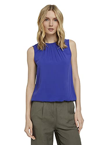 TOM TAILOR Damen 1025797 Feminine Bluse, 26529-Anemone Blue, 36