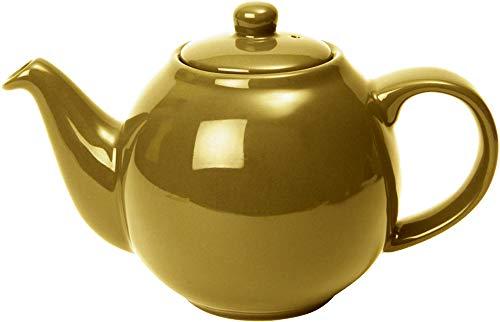 London Pottery Teekanne Globus aus Keramik mit Sieb, goldfarben, 4 Tassen Fassungsvermögen (900 ml)