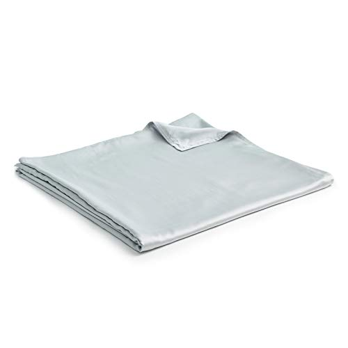 YnM Bamboo Duvet Cover for Weighted Blankets (Blue Grey, 60''x80'')