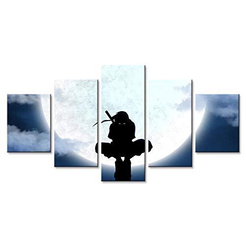 Naruto Uchiha Itachi Leinwand Poster - 5 Stück Poster - Wandbild Druck - Bild gedruckt - Kunst auf Leinwand - Kunstdrucke Bilder