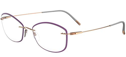 Silhouette Gafas de Vista DYNAMICS COLORWAVE ACCENT RINGS 5500/JB Lilac 54/17/0 mujer