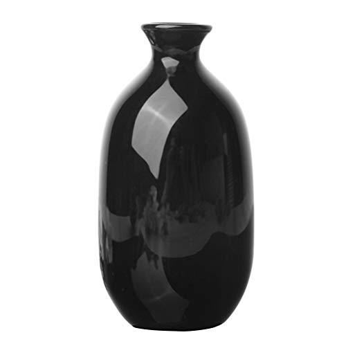 BESPORTBLE Jarrón de flores pequeño en color negro, moderno y sencillo, jarrón minimalista, para el hogar, la oficina, el centro de la mesa, estilo 3