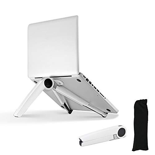 Nudito Soporte Base Portátil Ajustable para Ordenadores Portátiles de 7 a 14 pulgadas. Soporte Ergonómico Plegable de Aleación de Aluminio para Portátiles y Tablets. Elevador Ajustable de Portátiles