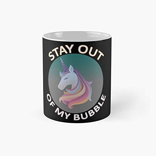 Divertida taza clásica de unicornio Stay Out of My Bubble, ideal como regalo para el amor, unicornio, novio, marido, hijo, esposa, hija, niña, pavo lindo   El mejor regalo tazas de café de 325 ml