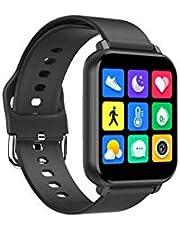 Smart watch, fitness tracker con cardiofrequenzimetro/pulsossimetro/monitor dell'ossigeno nel sangue/sfigmomanometro, smart watch con contapassi impermeabile