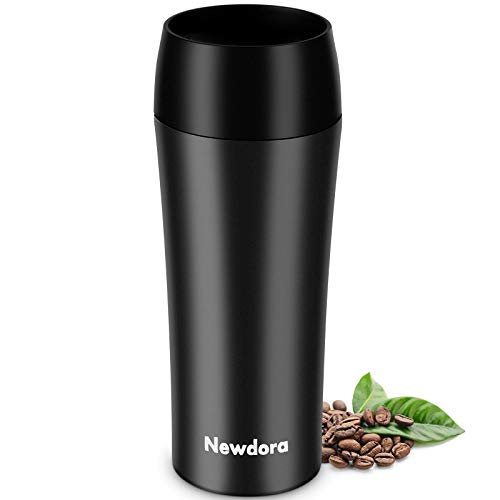 Newdora Termo Cafe, Botella de Agua Acero Inoxidable, Tazas Cafe Personalizadas 380ML Travel Mug, Reutilizable Botella Termica para al Aire Libre, Camping, Gimnasio en Casa,Fácil de Limpiar,sin BPA