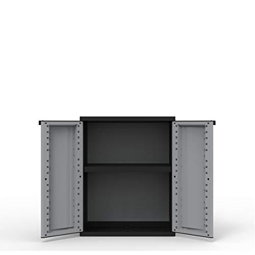 Kreher Kunststoffschränke | Aufbewahrungsschrank in neutraler Optik. Mit höhenverstellbaren Böden und abschließbaren Türen in 3 verschiedenen Modelle (Beistellschrank)