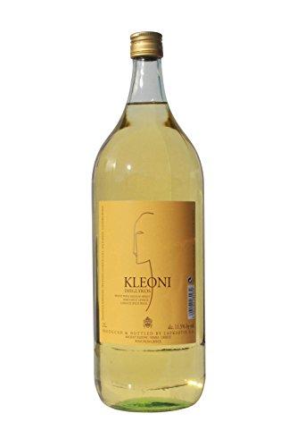 Kleoni Weißwein Imiglykos lieblich Lafkiotis 2 L Flasche - griechischer weißer Wein Weiß Griechenland