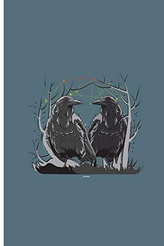 """Huginn and Muninn: Sweet Hawk Perfect Lined Notebook/Journal (6""""x9"""")"""