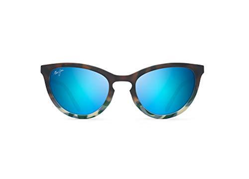 Maui Jim - Gafas de sol para mujer, Azul (Marrón mate/Azul Tokio/Azul Hawaii Polarizado), Small