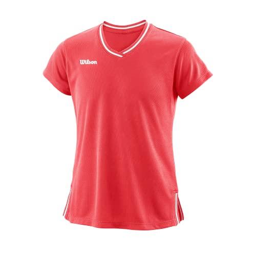 Wilson G Team Ii V-Neck T-Shirt Unisex Kinder, Unisex Kinder, Unterhemd, WRA797006MD, Koralle (Fiery Coral), 8 Años
