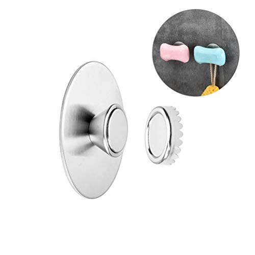 TOPBATHY 2pcs Soap Holder Magnetic Soap Saver Self Adhesive Wall Soap Dish