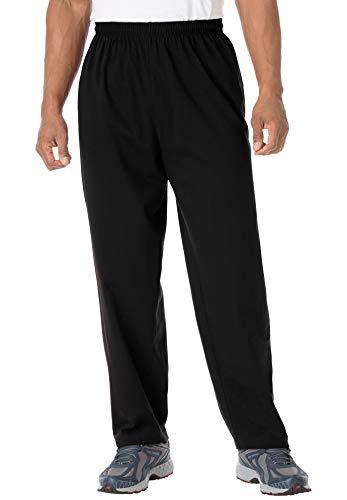 KingSize Men's Big & Tall Lightweight Jersey Sweatpants - Big - 3XL, Black
