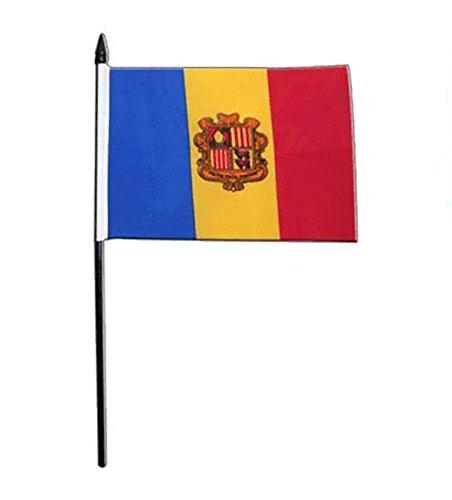Gizzy ® Andorra (Crest) x 15.24 cm - 10.16 cm mit Fahne Boden und Stab