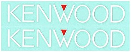 KENWOOD ケンウッドステッカー KENWOOD Sサイズ 2枚入り 抜き文字タイプ ホワイト KN-015W