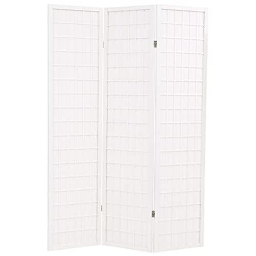 Paravento Pieghevole 3 Ante Stile Giapponese 120x170cm BiancoArredamento Separè