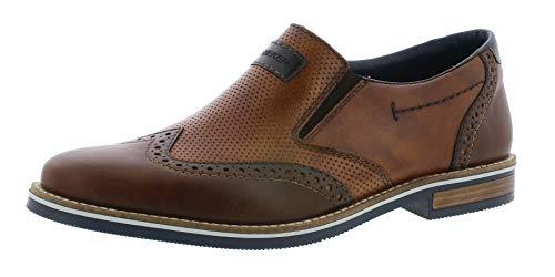 Rieker 13560 Herren Slipper,College Schuh,Loafer,Halbschuh,elegant,Business-Schuh,Anzugschuh,Büro,kastanie/mandel/25,43 EU / 9 UK