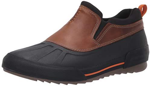 Clarks Men's Bowman Free Rain Shoe, Dark tan Leather, 120 M US