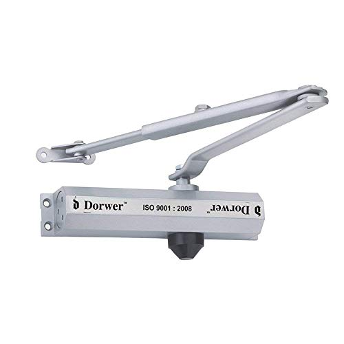 Primelife Dorwer Brand Hydraulic Automatic Door Closer -Weight UP to 85 to 100 Kg -Large; Silver (Model Number 201 RD)