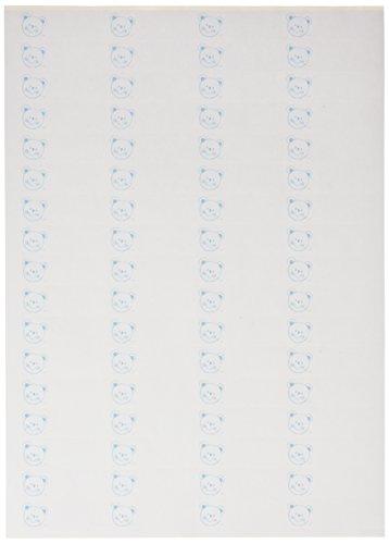 mopec x6846.03 Etiketten met een teddybeer blauw, pak van 5 vellen