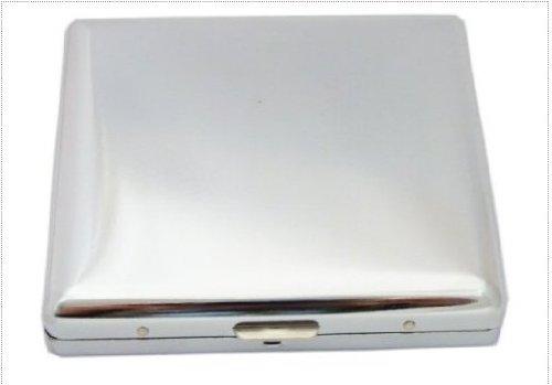 Steel sigarettenetui voor 20 sigaretten veeropening gepolijst sigarettendoos opbergdoos mooie bescherming kuipdoos case