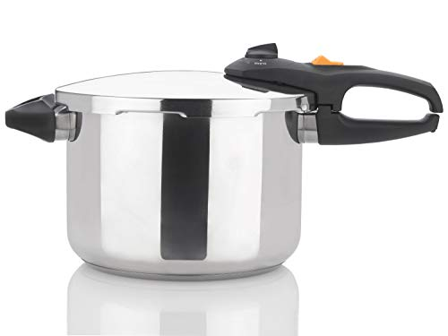 Zavor DUO 8.4 Quart Multi-Setting Pressure Cooker with Recipe Book and Steamer Basket - Polished Stainless Steel (ZCWDU03)
