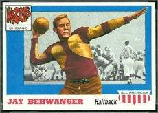 1955 Topps Regular (Football) Card# 78 Jay Berwanger of the Chicago VG Condition