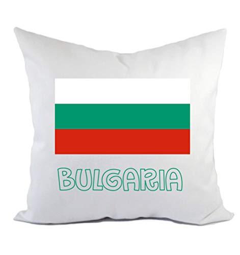Typolitografie Ghisleri kussen Bulgarije, vlag en kussensloop 40 x 40 cm van polyester