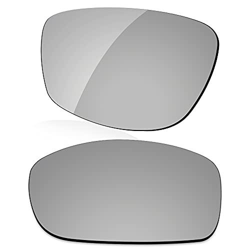 LenzReborn Reemplazo de lente polarizada para Arnette Quick Draw AN4178 Sunglass - Más opciones, Gris Plata - Espejo polarizado, Talla única
