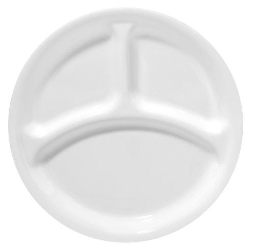 CORELLE Livingware Winter Frost White 10-1/4' Divided Dinner Plate, 1 Pack