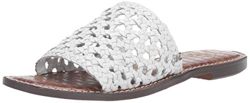 Sam Edelman Women's Genovia Slide Sandal, White Leather, 10.5 M US