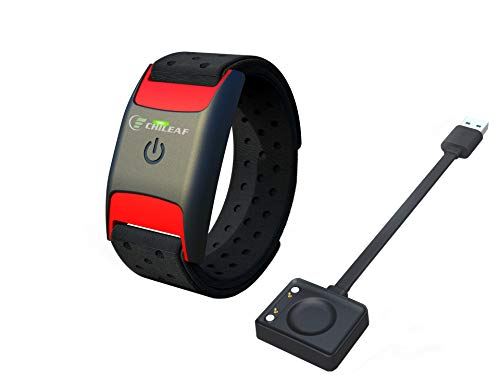 CHILEAF CL830 Heart Rate Monitor Armband - Optical Heart Rate Armband Monitor Bluetooth and ANT+ Wireless Heart Rate Health Accessories Fitness Tracker Compatible with Wahoo,Polar,Strava,Zwift,Nike