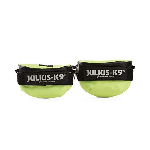 Julius-K9 1621IDC-NE-K IDC Universal Side Bags for Dogs, Harness Size Baby 2 to Mini-Mini, Neon