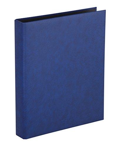 Herma 7553 Foto Ringalbum Classic blau (Format 26,5 x 31,5 cm) 4 Ringe, für max. 30 Blatt/60 Seiten, Kunststoff Vinyl, 1 Fotoalbum Ringbuch